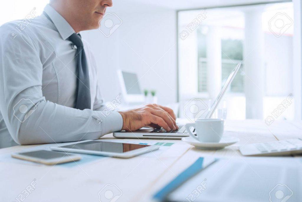 Professional businessman working