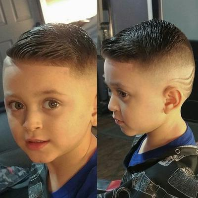 Short Haircut with Shaved Waves