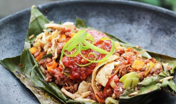 Nasi bakar Seafood